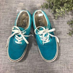 Blue suede Vans